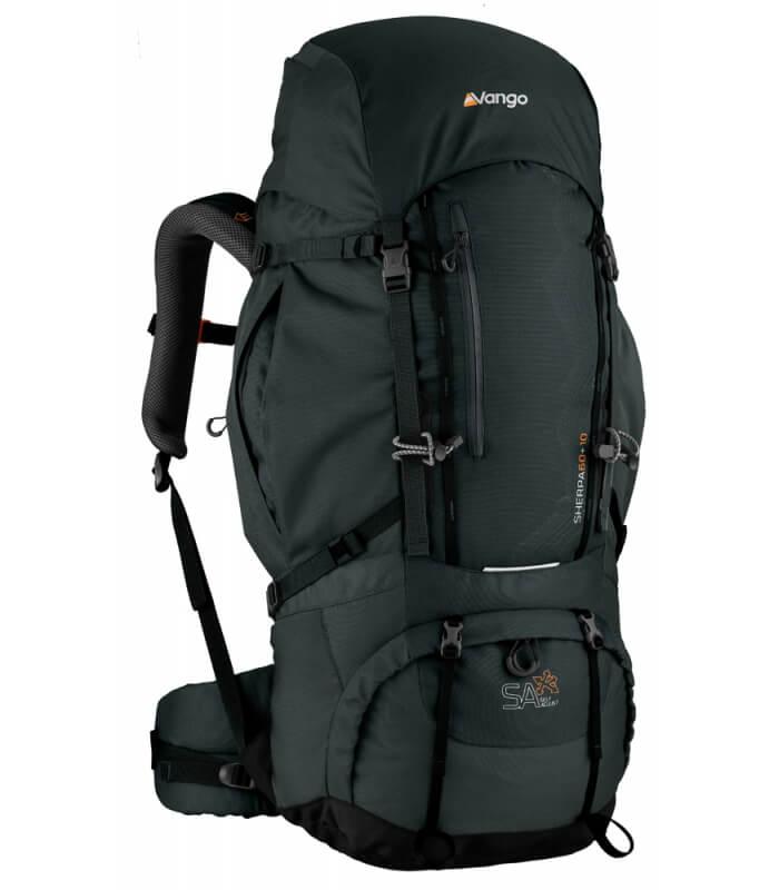 Sherpa 60+10 Lær en rygsæk