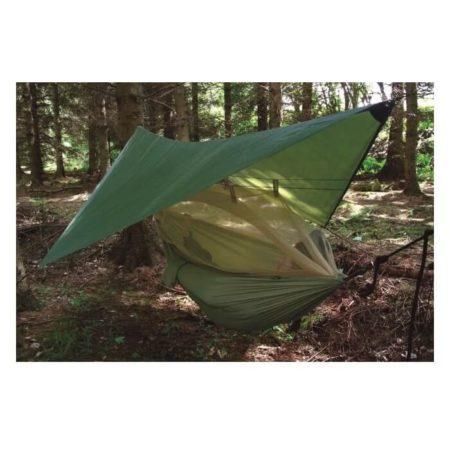 Hængekøje med myggenet og regnslag