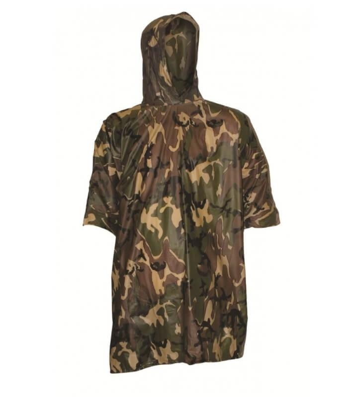 Image of   Camouflage Poncho Highlander unisex vandtæt slidstærk