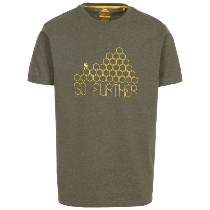 BUZZINLEY Herre T-shirt Oliven grøn med print