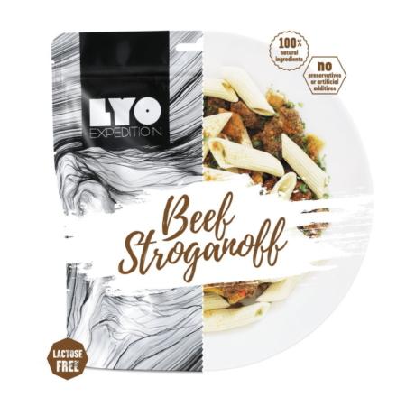 Frysetørret mad storkøb: Frysetørret bøf stroganoff 500 g