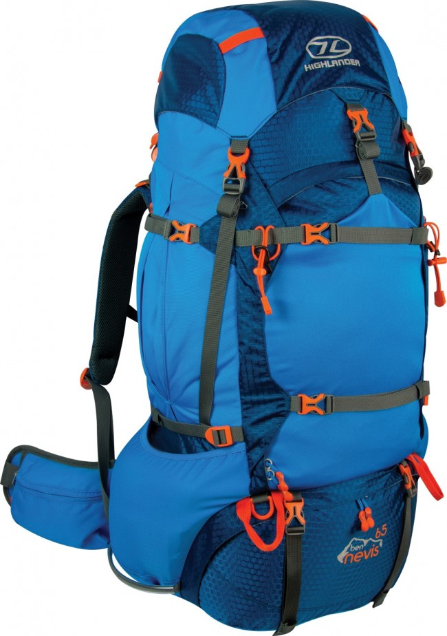 Ben Nevis 65 liter backpacker rygsæk blå Highlander