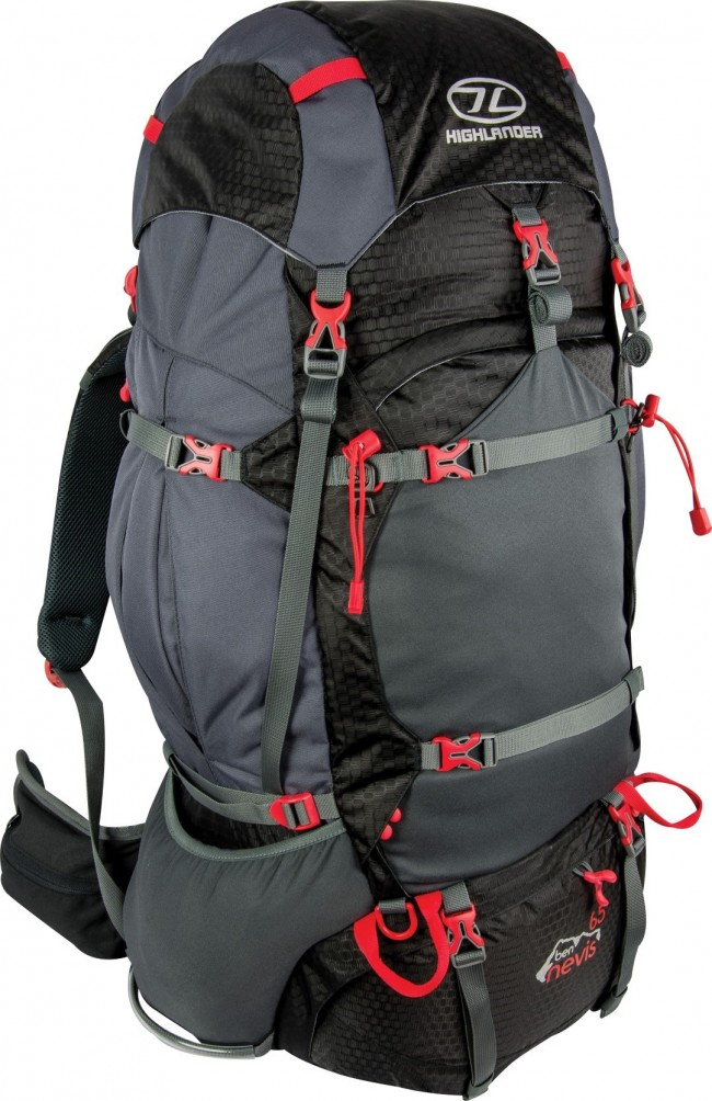 Image of   Ben Nevis 65 liter rygsæk sort Highlander