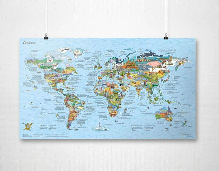 Image of Bucketlist Map Re-Writable Plakat Awesome Maps