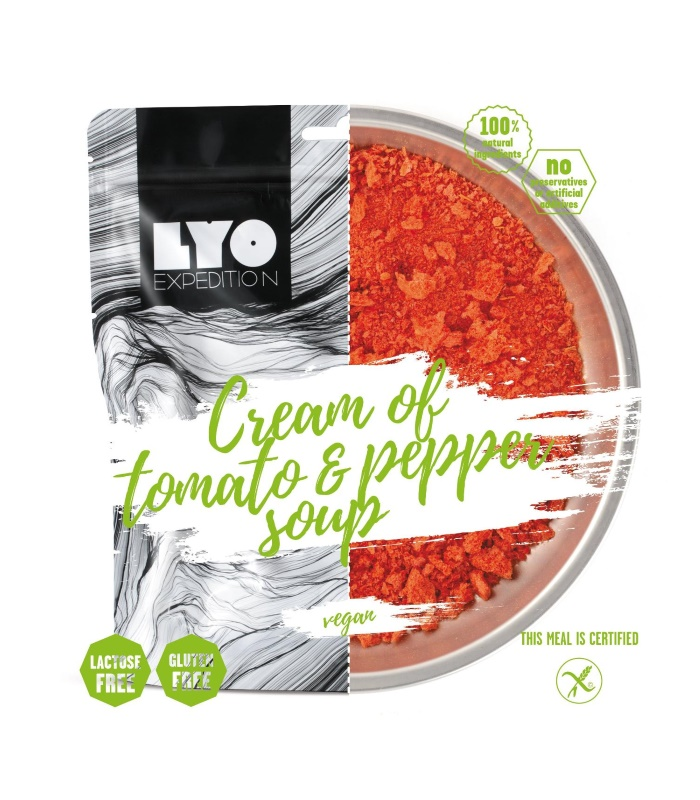 Image of   CREAM OF TOMATO & PEPPER SOUP fra LYO Food