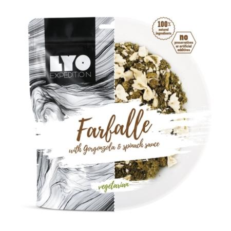 Frysetørret mad storkøb: Falaffel med spinat og gorgonzola