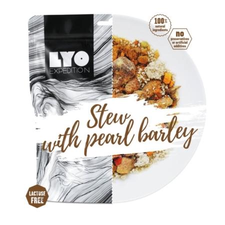 Frysetørret mad svinekød med perlebyg