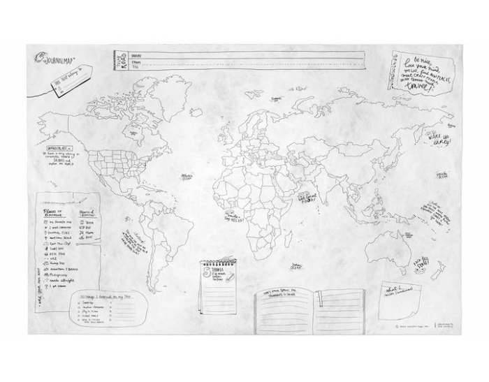 Journal Map Crumpled Edition Plakat Awesome Maps