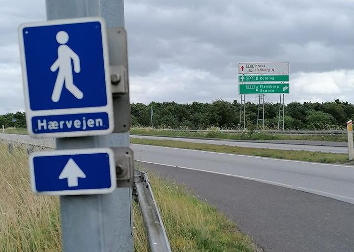 Hærvejen skilt vandreruter i Danmark
