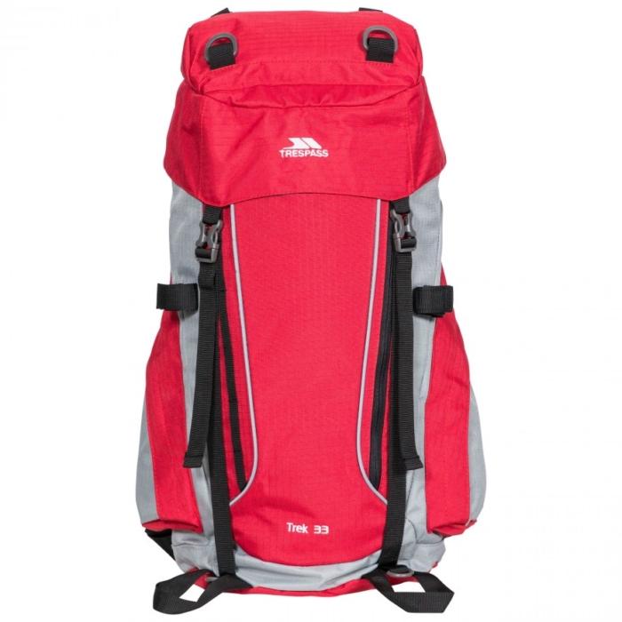 Trespass Trek 33 liter rygsæk rød