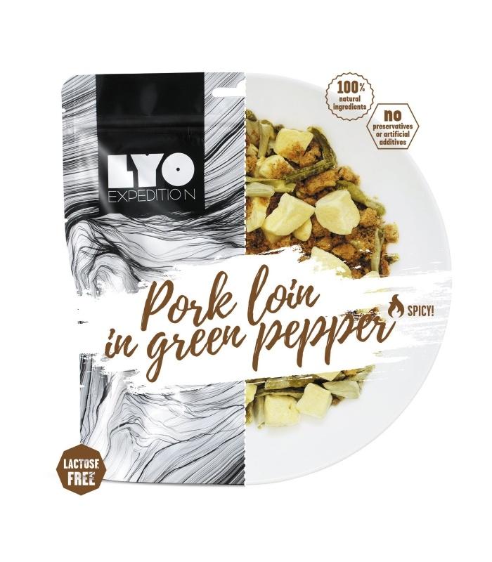 Pork Loin in green Pepper Sauce