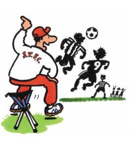 Walkstool til fodboldkampen