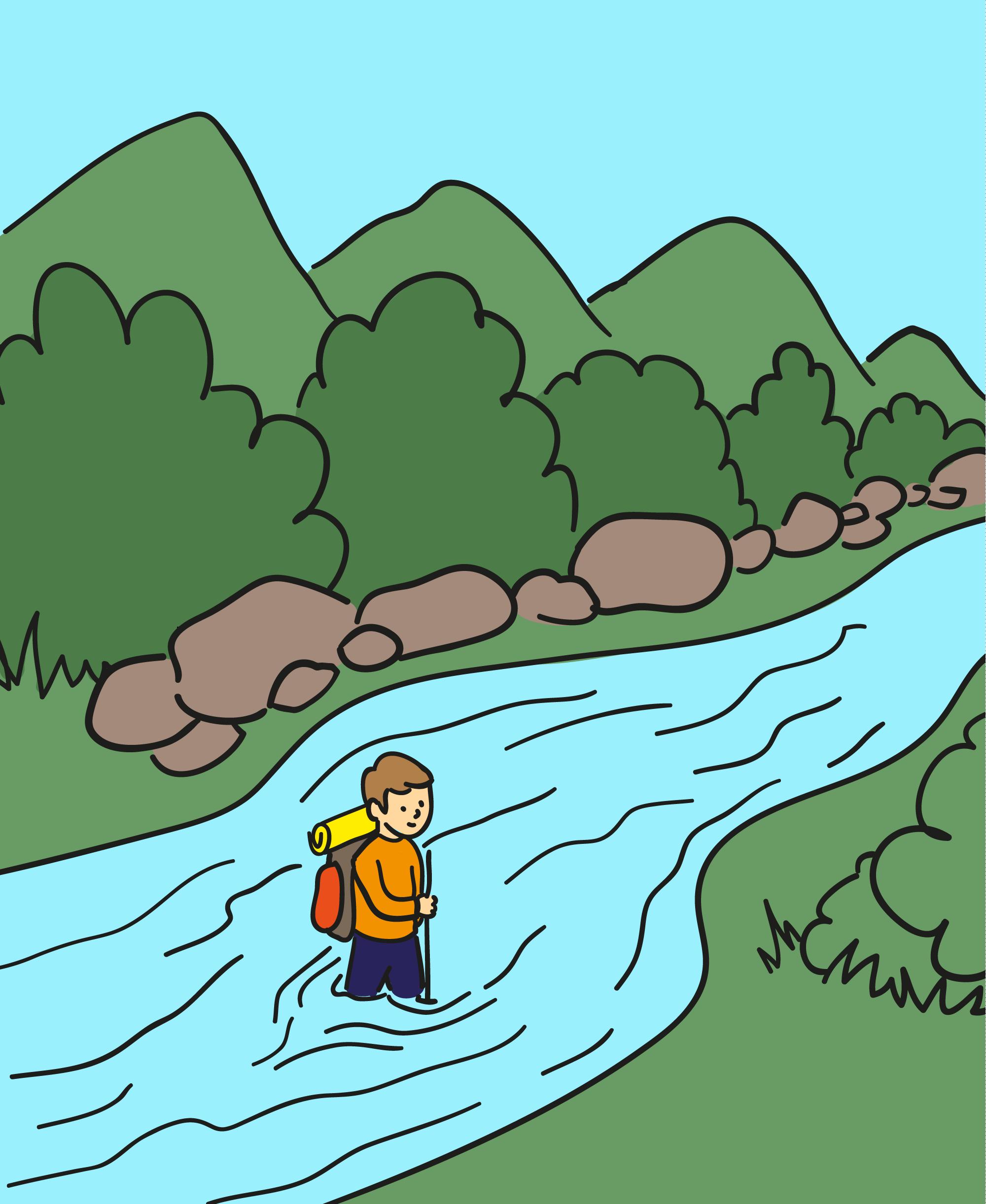 Kryds vand på en sikker måde