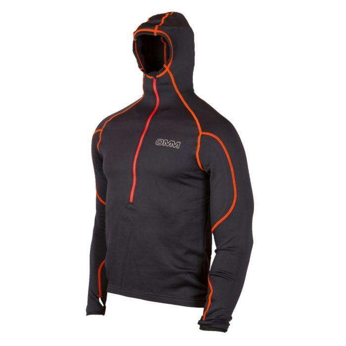 Contour Hoodie Fleecetrøje med hætte OMM mand sort/orange