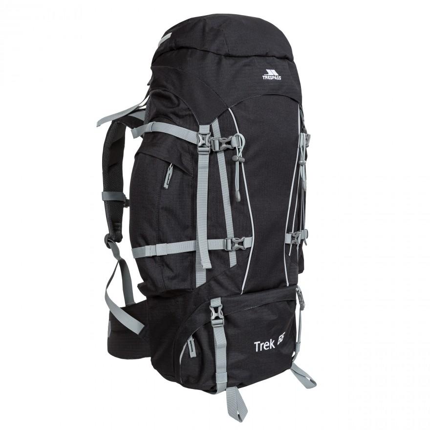 Lej en Trek 66 liter Rygsæk til vandring fra Trespass