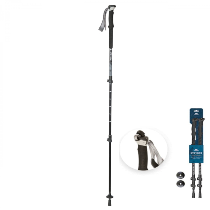 STRYDER anti-shock teleskop vandrestave (Twinpack) fra Trespass uuacmin30060